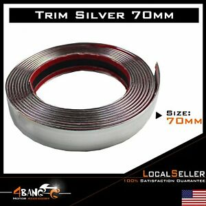 2 75 Chrome Molding Strip Auto Door Sill Protector Front Bumper Decorate 10ft