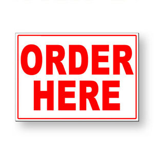 Order Here Metal Sign 5 Sizes Ms076