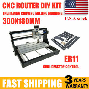 Cnc Pro 3018 Router Laser Engraving Machine Pcb Wood Diy Carving Milling Desktop