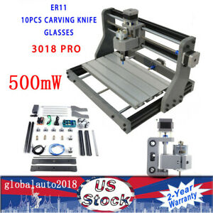 3 Axis Cnc3018pro 2 in 1 Diy 500mw Laser Head Engraving Machine Wood Mill Grbl