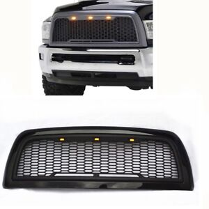 Painted Glossy Matte Black Grill For 13 18 Dodge Ram Hd 2500 3500 Raptor Grille