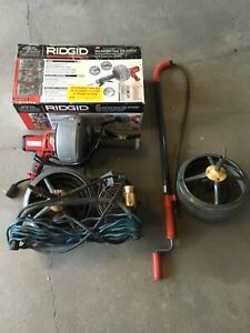 Kenway Jr Drain Cleaning Machine And Ridgid K 45af And Toilet Auger