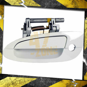 For 2003 Nissan Altima Outside Door Handle Front Left Driver Side White Qm1