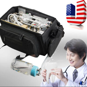 Us portable Dental Unit With Air Compressor Suction System 3 Way Syringe Machine