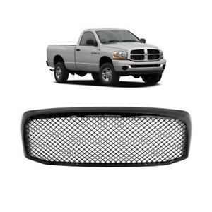 Gloss Black Sport Mesh Grille Front Upper Grill Fit For 2007 2008 Dodge Ram 1500