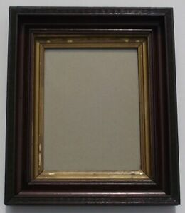 Antique Victorian Deep Shadow Box Picture Frame With Wooden Back