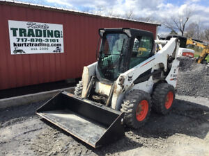 2012 Bobcat S750 Skid Steer Loader W Cab Kubota Diesel New Tires