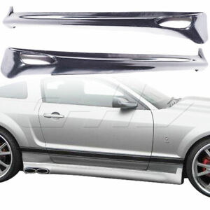 Urethane Eleanor Style 2pc Side Skirts Fits Ford Mustang 05 09 Kbd