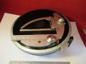 Zeiss Germany Table Stage Pol Polarizer Rotatable Microscope Part As Pic 13 50