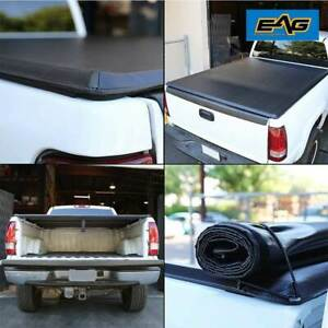 Eag 6 1ft 73 Short Bed Roll up Tonneau Cover Black Fits 05 15 Nissan Frontier