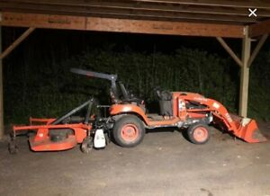2015 Kubota Bx25 4wd Diesel Tractor With Mower Attachment