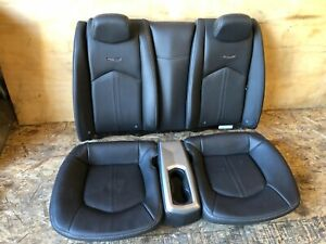 Gm Cadillac Cts Coupe Oem Rear Back Becnh Top Bottom Leather Chair Seat 20k