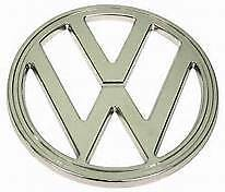 Emblem Front Vw 182mm Chrome Fits Volkswagen Type 2 Bus 1972 1979 24185360