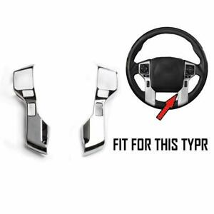 Steering Wheel Moulding Chrome Cover Trim Kit For 2015 2020 Toyota Tacoma