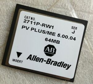 New In Box Allen Bradley 2711p rw1 Panelview Plus 64mb Compact Flash Card