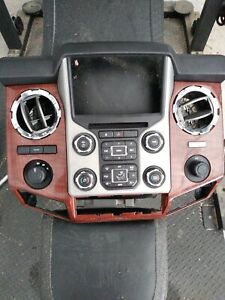2016 Ford Super Duty Dash Bezel Woth Ac Controls