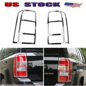 Fits 2011 17 Jeep Patriot Chrome Taillight Cover Rear Lamp Protection Trim Frame