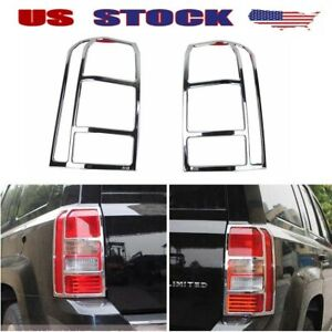 Fits 2011 2017 Jeep Patriot Abs Chrome Taillight Frame Rear Lamp Cover Trim