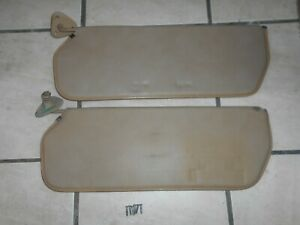 73 87 Chevy gmc Truck Sun Visor Set tan brown Oem