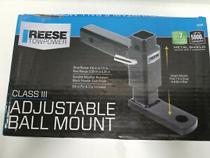 Reese Towpower Class 3 Adjustable Ball Mount Hitch New