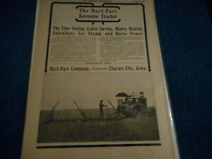 Hart Parr  Charles City  IA 1910 Advertisement: Kerosene Tractor Pictured