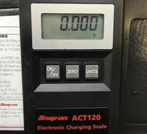 Snap On Act 120 Electronic Charging Scale Like New Condition