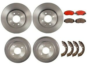 Brembo Brake Kit Front Disc Rotors Ceramic Pads Rear Drums Shoes For Civic Ex