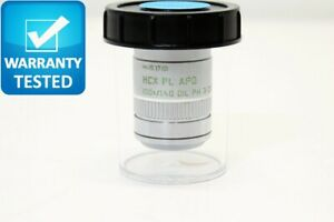 Leica Hcx Pl Apo 100x 1 40 Oil Ph3 Cs Microscope Objective