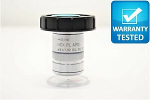 Leica Hcx Pl Apo 63x 1 32 Oil Ph3 Cs Microscope Objective
