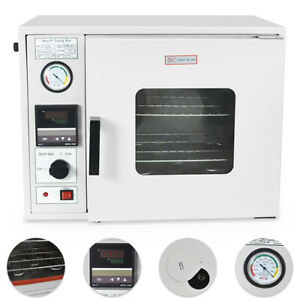 0 9 Cu Ft 480 f Lab Vacuum Air Convection Drying Oven 2 Trays Lcd Display Usa