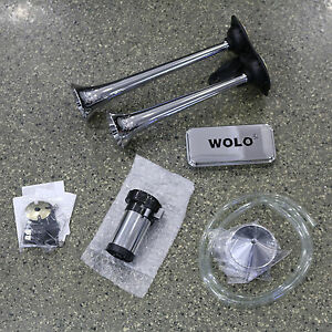 Wolo 120 Decibel Big Rig Powerhouse Chrome Plated Roof Mount Air Horn 418