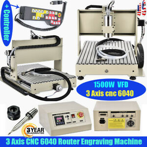 3 Axis Cnc 6040 Router Engraver 1500w Engraving Metalworking Machine controller