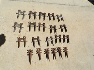 Lot 15 6 Double Single Sickle Mower Bar Teeth Guards For Crafts Rat Rods Art