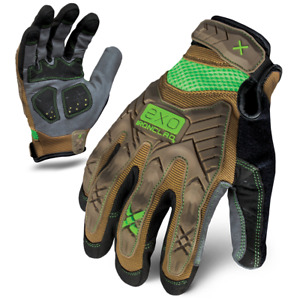 Ironclad Gloves Exo2 pig Project Lover Impact Brown Green Select Size