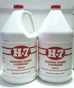 H7 Degreaser Industrial Cleaner 128 Oz Lot 2 Gal For Cleaning Pick Qty