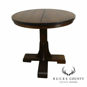 Salesman Sample Antique Round Oak Dining Table W 2 Leaves