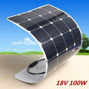 100w 18v Solar Panel Flexible Battery Charger Power 10a Solar Controller Useful