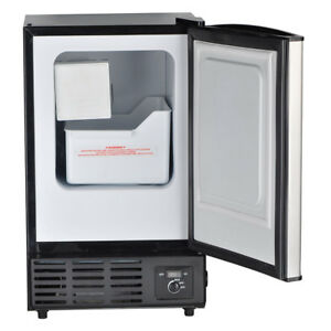 Smad Built in Commercial Ice Machine Restaurant Undercounter Ice Maker Fridge