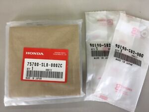Jdm Oem Honda Nsx Front Emblem Budge Na1 Na2 Acura White Nut Set Genuine Japan