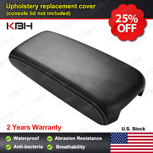 Fits 09 14 Nissan Maxima Leather Center Console Lid Armrest Cover Gray Stitch