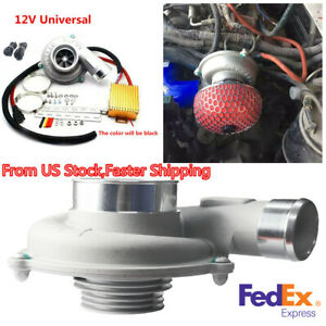 12v Car Electric Turbo Supercharger Turbocharger Air Filter Intake Fuel Saver