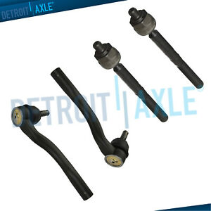For 2011 2012 2013 2014 2015 Durango Grand Cherokee Front Inner Outer Tie Rods