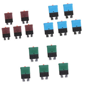 15xauto Marine Resettable Mini Blade Fuse Manual Circuit Breaker 10a 15a 30a