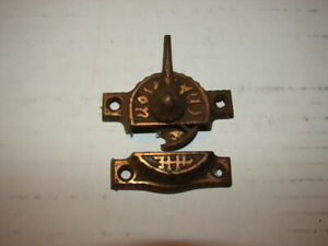 Antique Victorian Eastlake Window Sash Lock Latch Locks Fancy Cast Iron 1