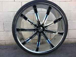 26 Inch Dcenti Dw29 Wheels Rims Tires Fit 6 X 135 F150 Expedition Navigator