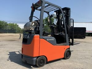 2013 Toyota Budget Lpg Forklift 3000 Pound small compact we Will Ship