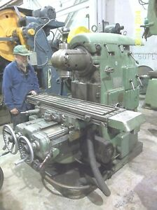 Vertical Milling Machine Universal Head 40 Speeds Feeds Rapid Trav X y