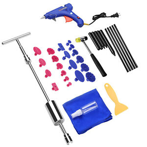 Down Kit Car Hail Auto Body Paintless Dent Removal Repair Tool Tap N4 Damage Us