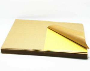 A4 Sheets Kraft Paper Brown Printable Self Adhesive Stickers For Diy Blank Label