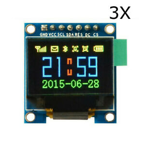 3pcs 0 95 Inch 7pin Full Color 65k Color Ssd1331 Oled Display Spi For Arduino